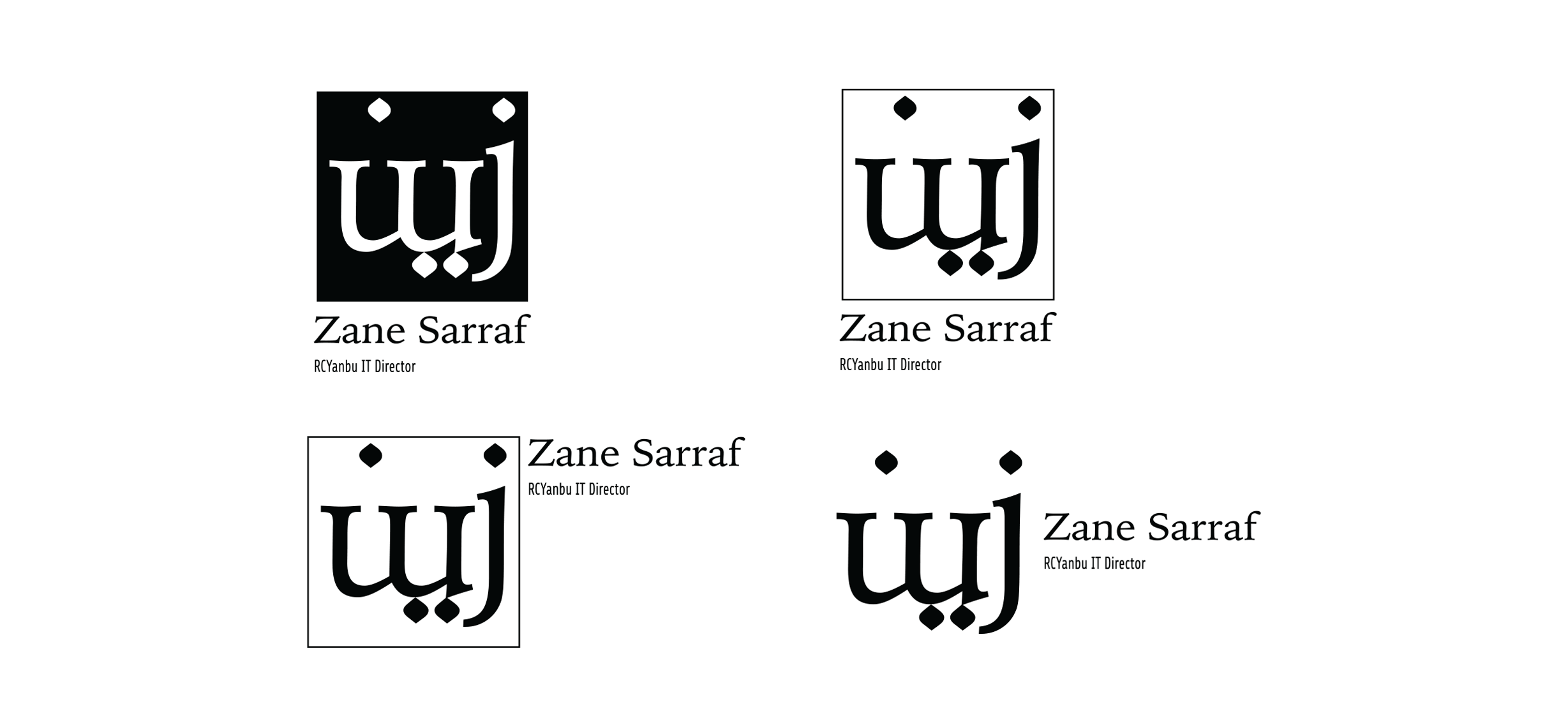 zane sarraf logo variations momenarts