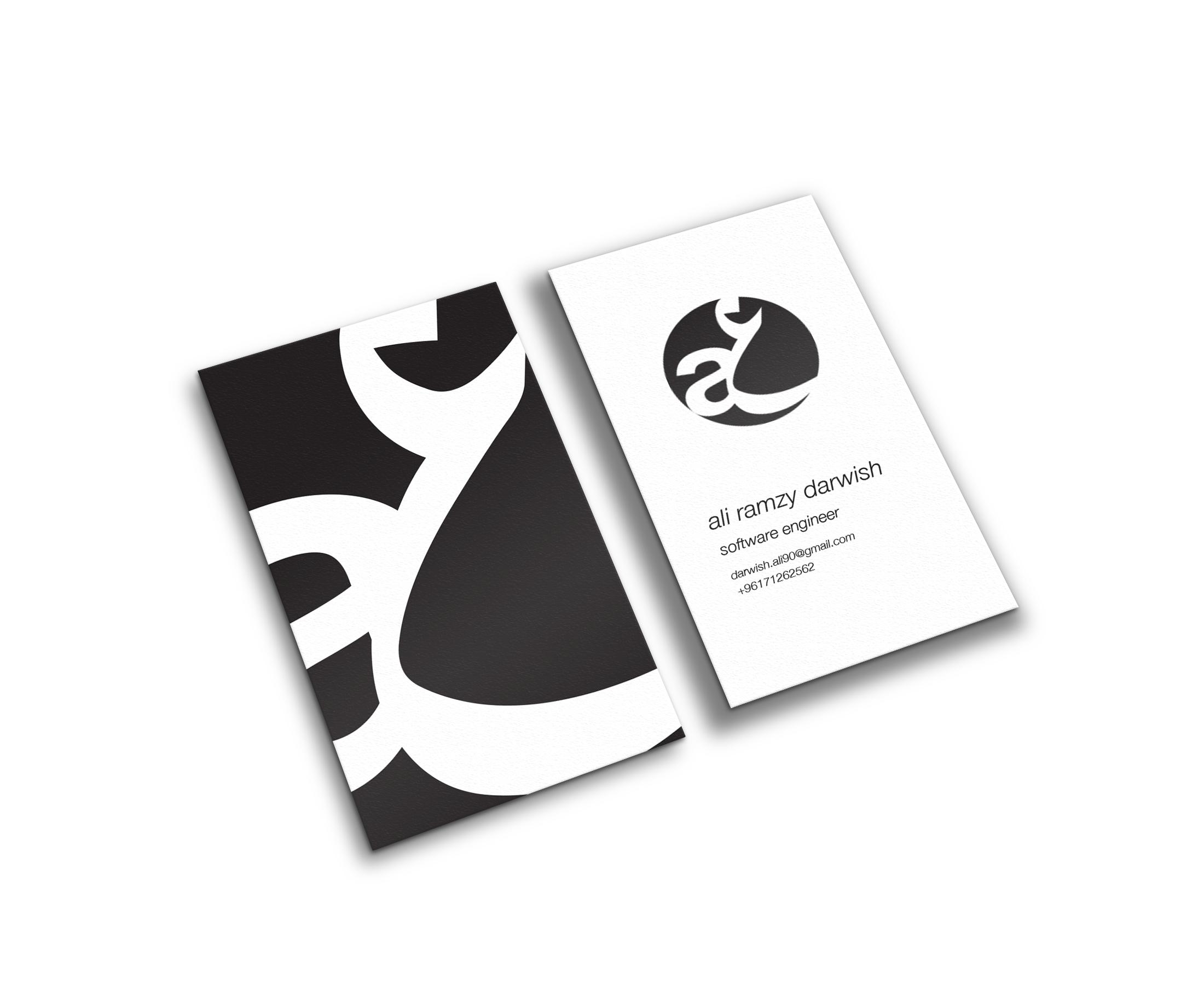 ali darwish business card design by momenarts