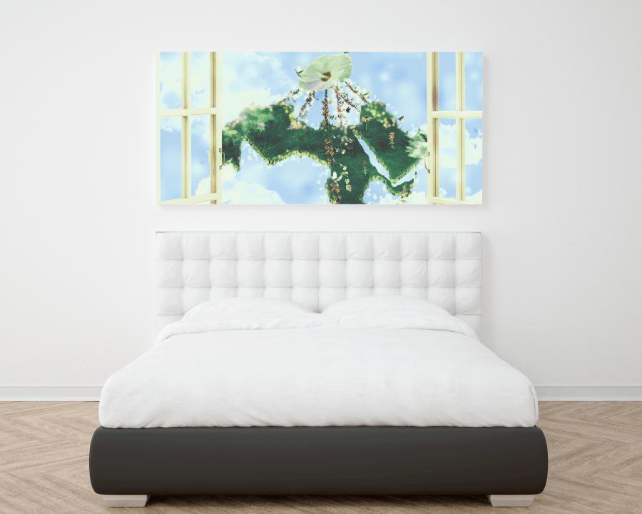 peaceful arab world bedroom wall frame poster momenarts