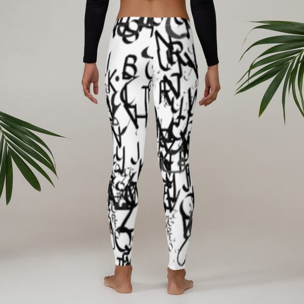 abstract typography -1 -Leggings-02