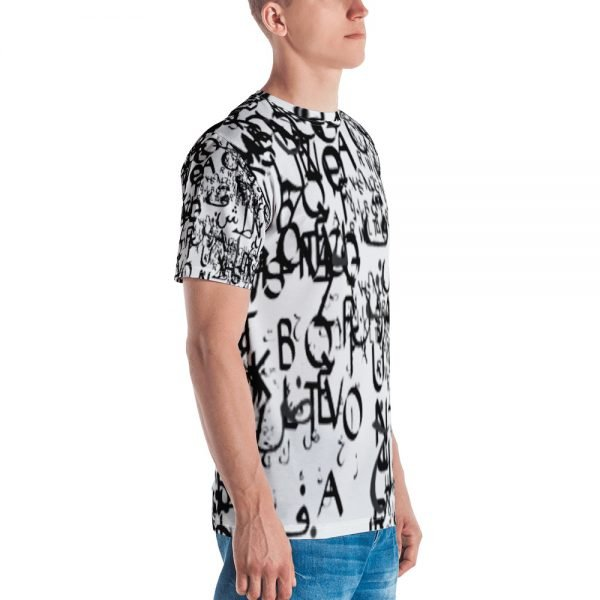 abstract typography -1 -Men's T-shirt-3