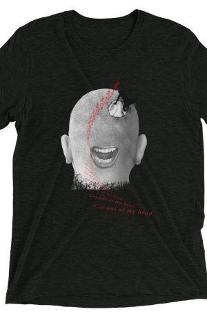 Get Out Of My Head - Short sleeve t-shirt - Charcoal-Black Triblend