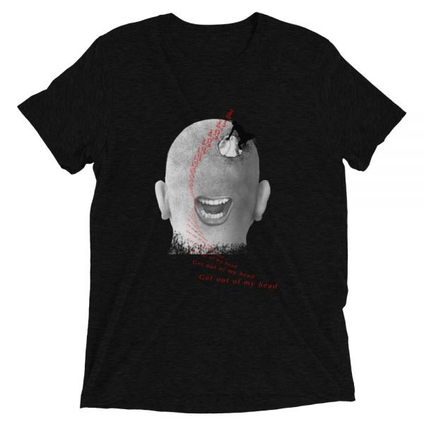 Get Out Of My Head - Short sleeve t-shirt - Solid Black Triblend