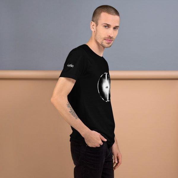 Letters fusion momenarts -Short-Sleeve Unisex T-Shirt-black-3