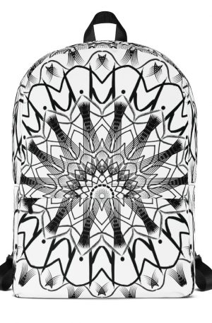 pattern mandala 01 -Backpack-black-on-white-01