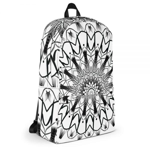 pattern mandala 01 -Backpack-black-on-white-06