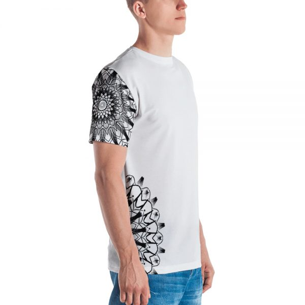 pattern mandala 01 -Men's T-shirt-black-on-white-left