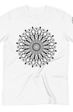 pattern mandala 01 -Organic T-Shirt-black-on-white-front