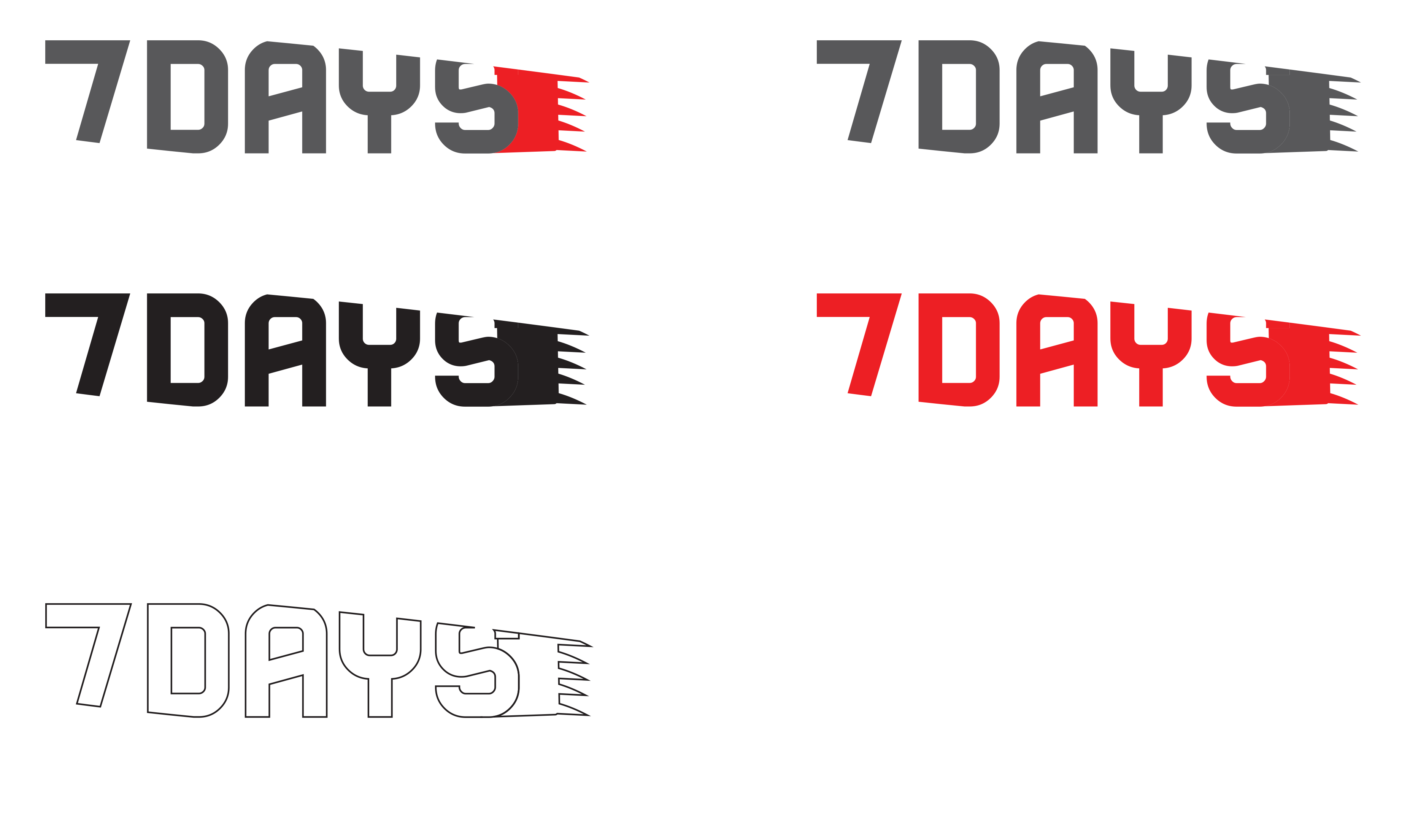 7days Logo Variations