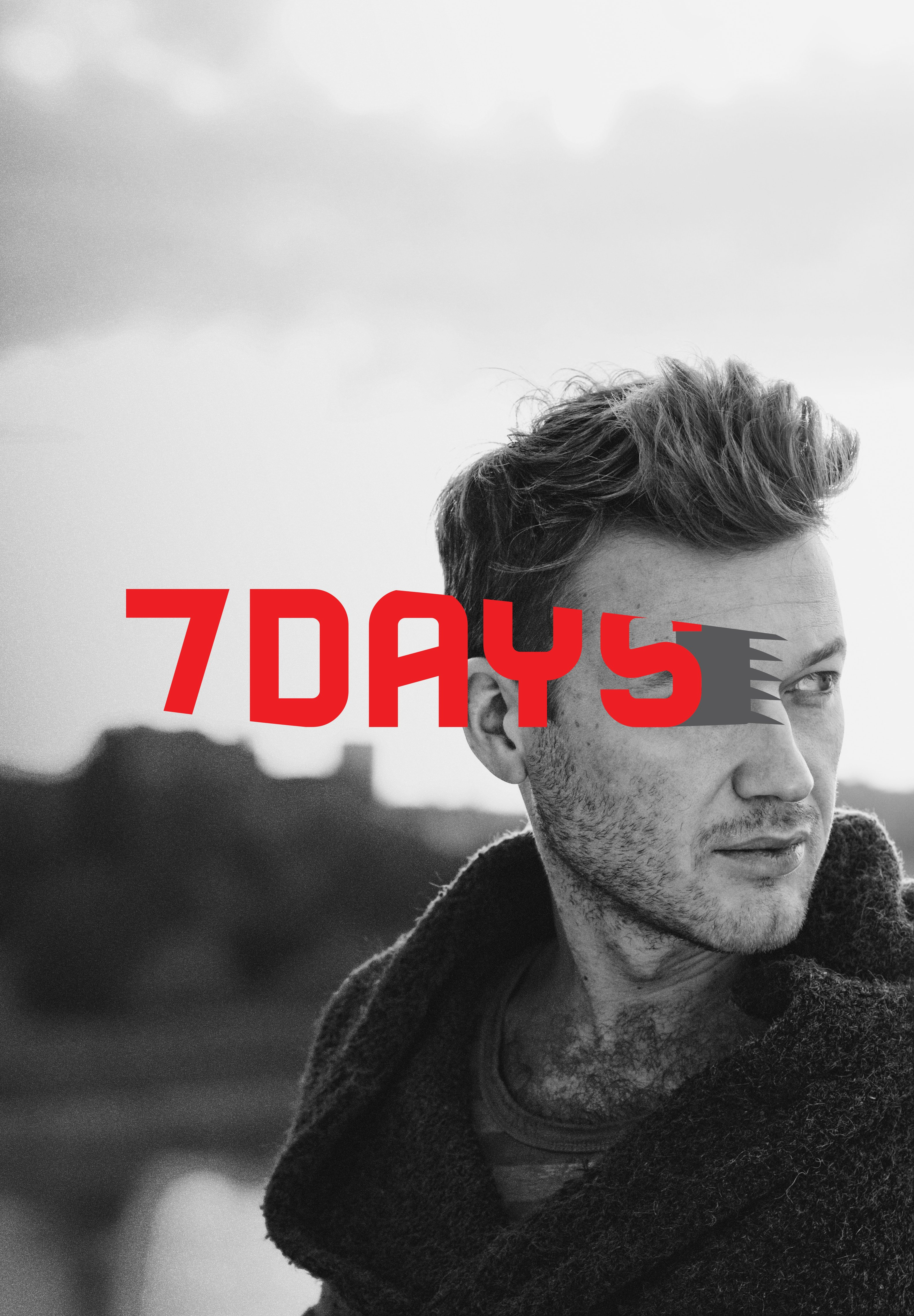 7days Logo With Men Hairstyle