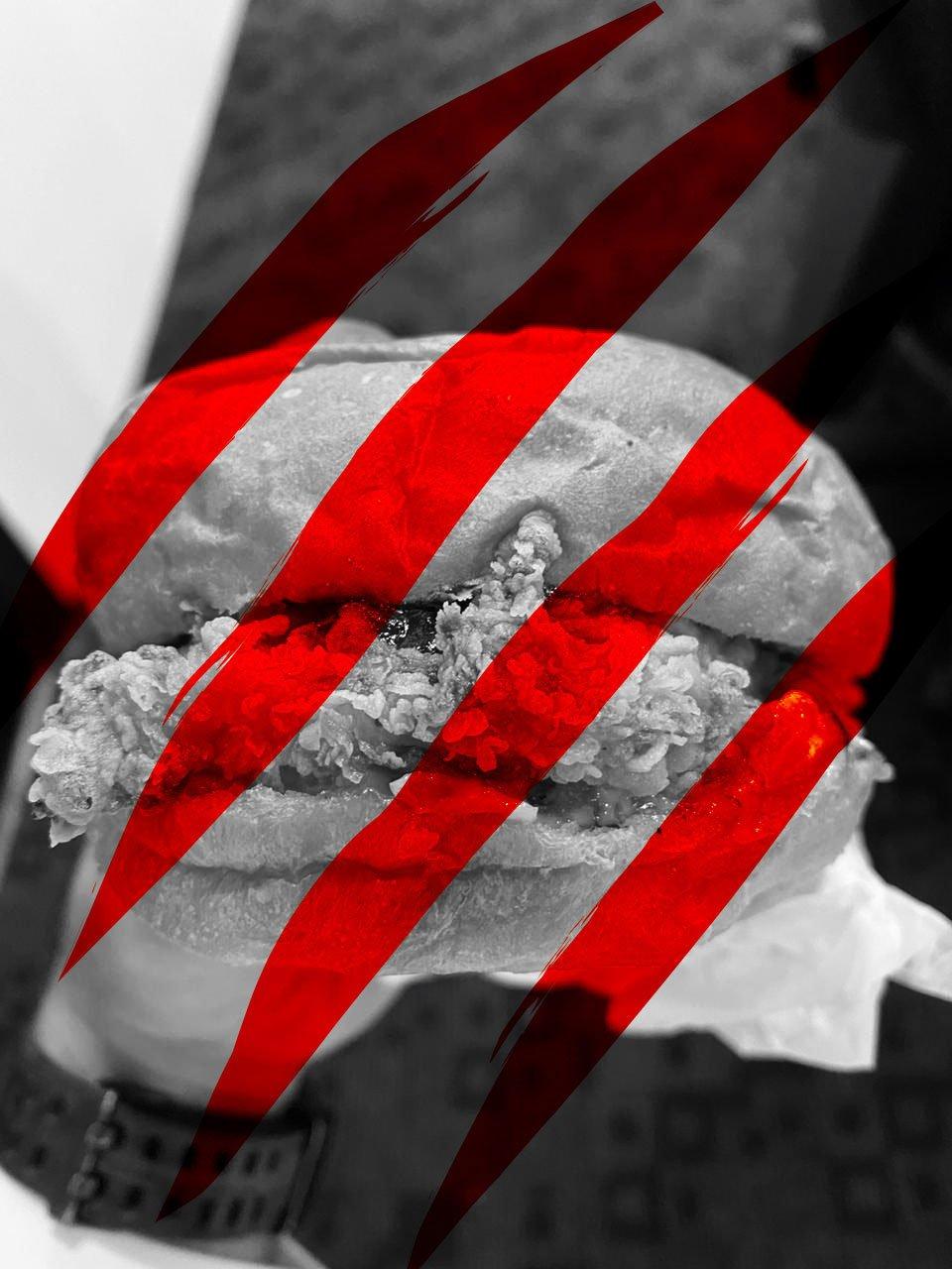 Firezilla Sandwich With Red Scratch