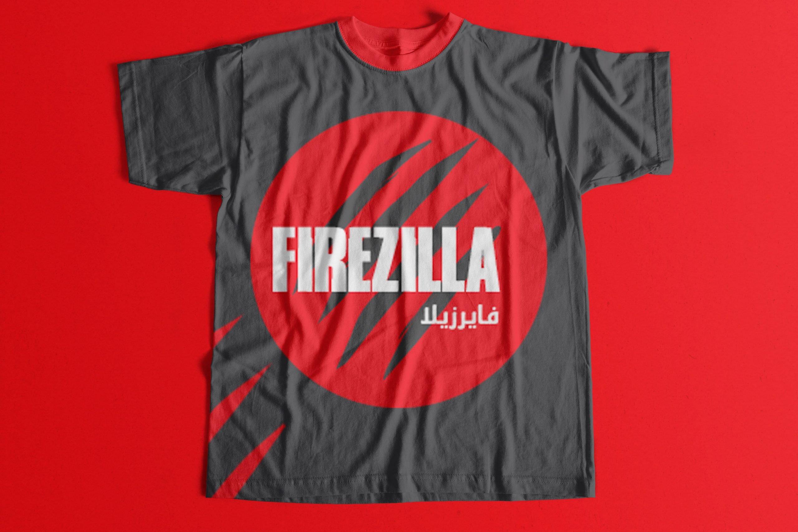 Firezilla Tshirt Momenarts