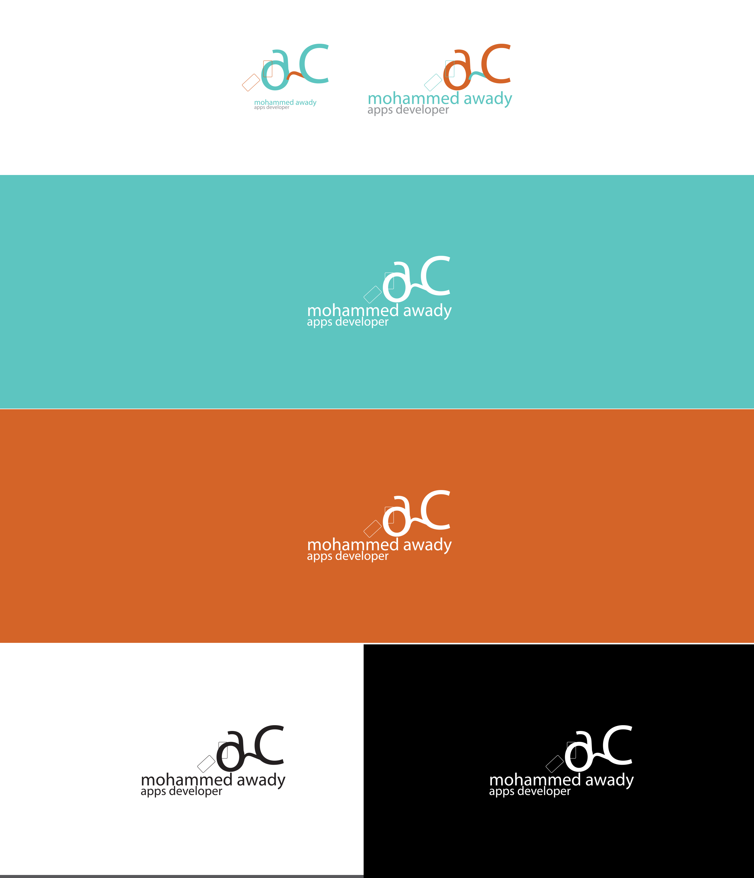 Mohammed Awady Logo Colors Variations By Momenarts