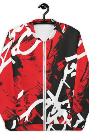 Abstract Typography -2-Unisex Bomber Jacket